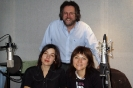 David Bray with Nathan's Keri Latimer and Shelley Marshal